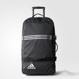 Спортивная сумка на колесиках Adidas T. TROLLEY XL BLACK/BLACK/WHITE оптом