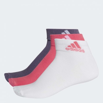 Носки Adidas PER ANKLE T 3PP REAL PINK S18,white,TRACE PURPLE S18 оптом