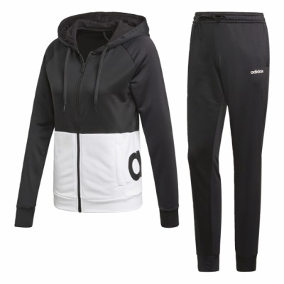 Костюм Adidas WTS Lin FT Hood BLACK/WHITE/BLACK оптом