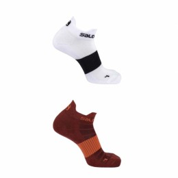 Носки Salomon SOCKS SENSE 2-PACK BIKING RED/White оптом